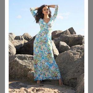 Lilly Pulitzer Gloria maxi dress Sea Soirée NWT L